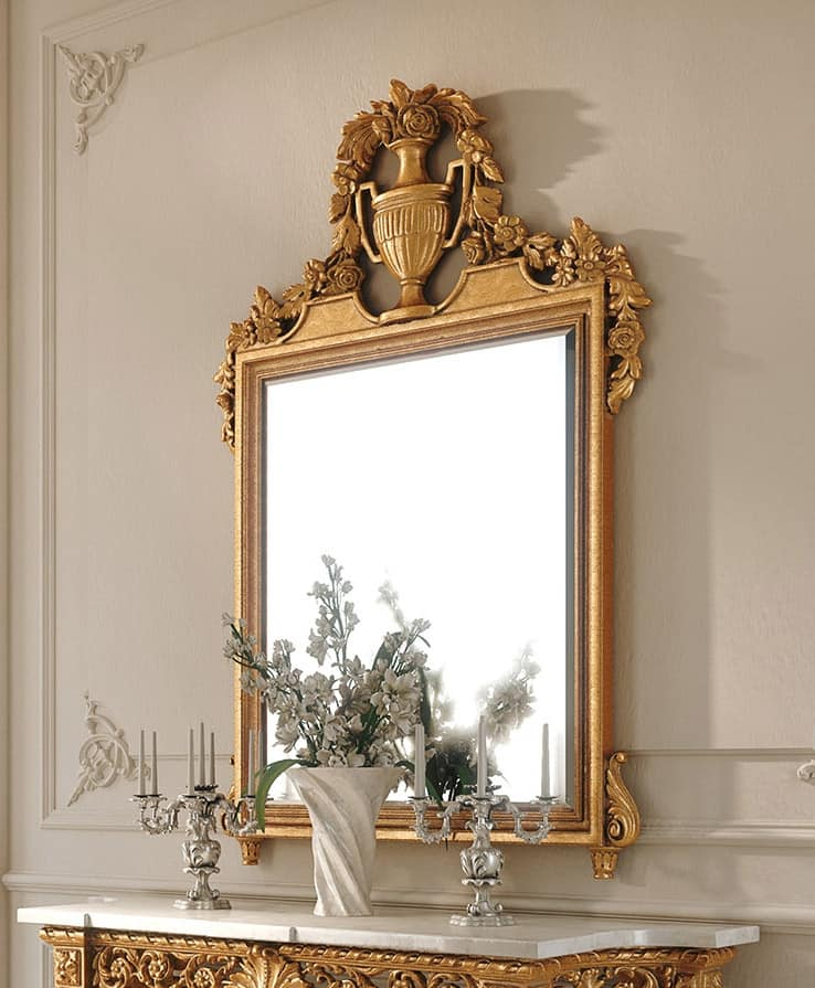 Klassische Spiegel klassischer spiegel aus geschnitztem holz idfdesign