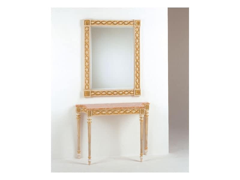 Art. 710/S, Klassische Spiegel, Stil Louis XVI, Finishing Blattgold