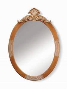 Art. 720, Ovaler Spiegel mit Blumenschmuck an der Spitze
