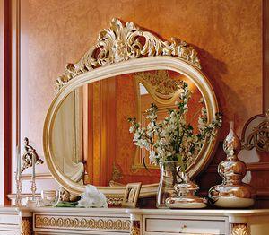 Art. 810T/S, Klassischer ovaler Spiegel mit geschnitztem Rahmen