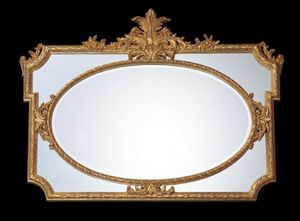Art. 9098, Klassischer Spiegel, brünierte Goldfarbe