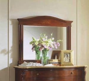 Canova Spiegel, Klassischen rechteckigen Spiegel mit geschliffenem Glas