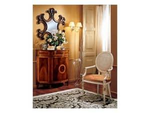 Complements mirror 862, Wandspiegel mit Rahmen aus Holz dekoriert