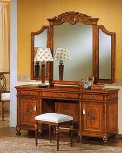 DUCALE DUCSP3E / 3 Elemente Spiegel, Spiegel für Schlafzimmer, mit zwei Seitenspiegel