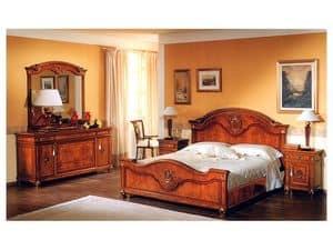 DUCALE DUCSPG / big Spiegel, Spiegel für Schlafzimmer mit Holzrahmen
