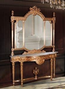 F360, Gilded Konsole und Spiegel aus klassischen Luxus-Stil