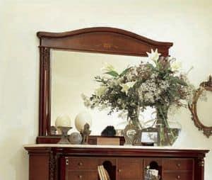 Gardenia Spiegel, Rechteckige Spiegel in Holz geschnitzt