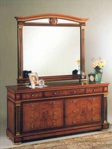 IMPERO / Big mirror, Schlafzimmer-Spiegel, mit Holzrahmen