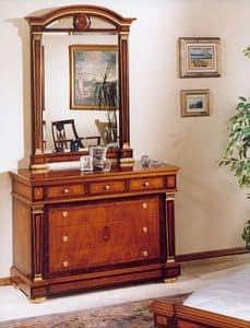 IMPERO / Mirror, Spiegel mit Rahmen aus geschnitztem Holz, klassischen Stil