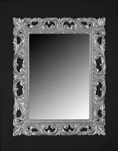 Memo, Klassischen Stil Spiegel mit Rahmen aus lackiertem Holz