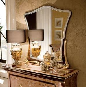 Rossini Spiegel, Spiegel mit vergoldeten Sockel, modernen Stil