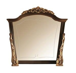 Sinfonia Spiegel, Spiegel aus Holz mit Goldverzierungen, handgefertigt