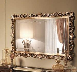 Sinfonia Spiegel Gold, Spiegel eingelegt in Blattgold, in dem siebzehnten Jahrhundert Stil