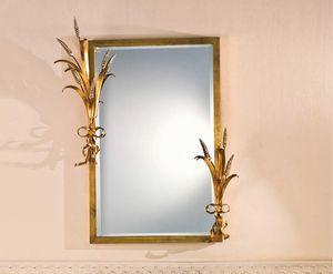 SP.7265, Rechteckiger Spiegel mit Rahmen in Blattgold