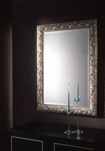 Ulivo Spiegel, Spiegel mit Blattsilber Rahmen für elegante Umgebungen