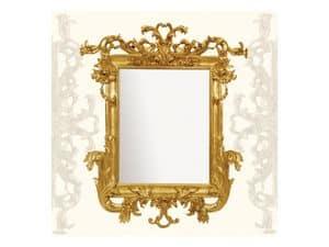 Wall Mirror art. 114, Spiegel mit geschnitzten Holzform