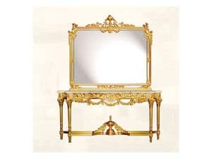 Wall Mirror art. 117/c, Luxus-Spiegel mit Rahmen aus Holz dekoriert