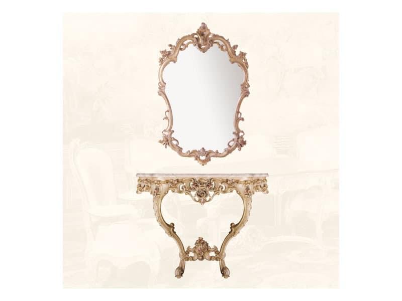 Wall Mirror art. 127, Louis XV-Stil Spiegel, für Eingänge und Wohnzimmer