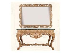 Wall Mirror art. Impero, Horizontale und rechteckiger Spiegel mit Rahmen