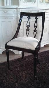 2290 STUHL, Stuhl mit geschwungener Rückenlehne, englischer Stil