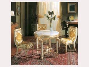 3280 CHAIR IMPERO, Geschnitzten Stuhl, gold lackiert trim