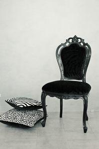 Black Samt, Klassische glänzend Schwarz-Sessel für den Speisesaal