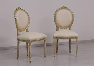 Dama Leder, Klassischer Stuhl mit Armlehnen für Hotels und Restaurants