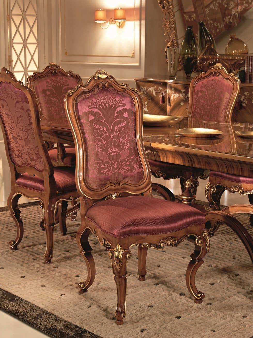 lehrstuhl f r buchenholz sitz und r cken gepolstert f r umgebungen in klassischen luxus stil. Black Bedroom Furniture Sets. Home Design Ideas