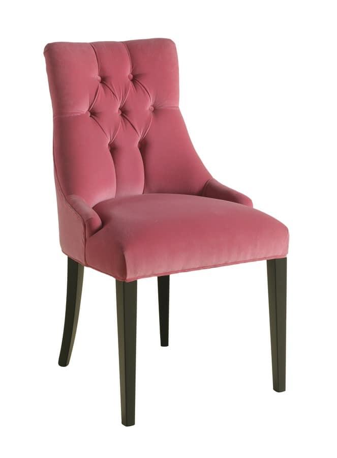 holzstuhl mit tufting r ckenlehne f r restaurants idfdesign. Black Bedroom Furniture Sets. Home Design Ideas