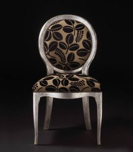Art. 19928, Holzstuhl, mit runder Rückenlehne, klassischer Stil