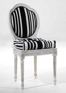 Art. 20807, Stuhl mit Sitzkissen und runde Rückenlehne