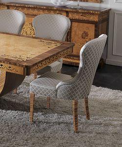ART. 2935, Stuhl mit Beinen in Zebrano-Ausführungen