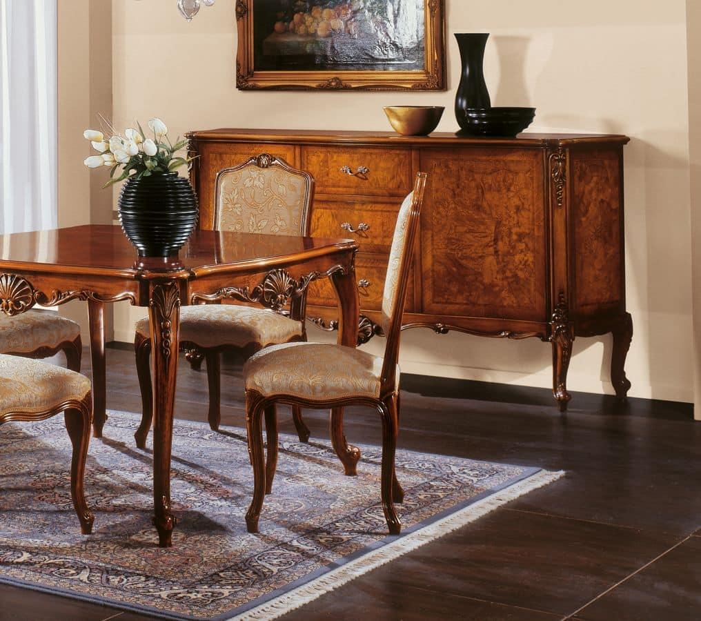 klassischer stuhl mit gepolstertem sitz und r cken idfdesign. Black Bedroom Furniture Sets. Home Design Ideas