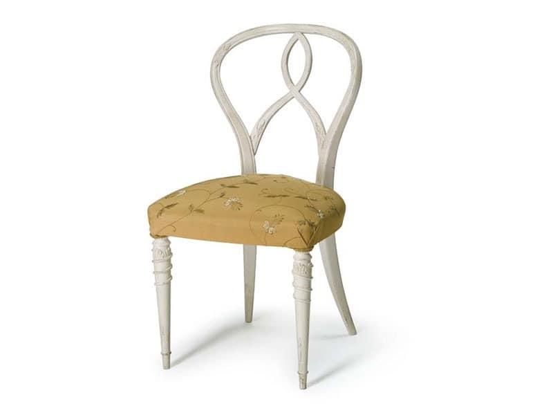 Art.492 chair, Stuhl aus rohem Nussbaum, gepolsterter Sitz