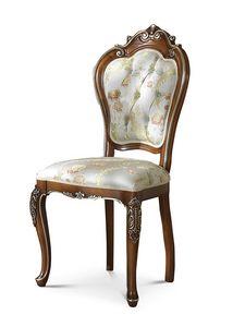 5009/S, Klassische Stühle mit Capitonné-Rückenlehne