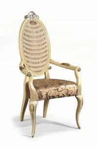 Art. 502p, Stuhl mit gepolsterten Armlehnen und Rückenlehne in Zuckerrohr