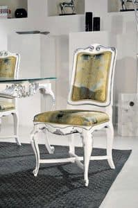 Art. 505s, Klassischer Stuhl mit Struktur verziert im silbernen Blatt