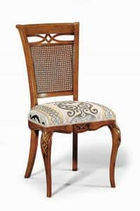 Art. 507s, Stuhl mit Schnitzereien und Dekorationen, mit Stuhllehne