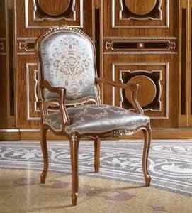 Art. 509, Leiter Stuhl in geschnitztem Holz für Restaurants