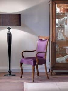 Art. CA121, Holzstuhl mit Armlehnen, für Esszimmer