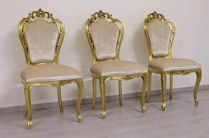 Black Fake Leather, Stuhl aus Kunstleder im klassischen Stil