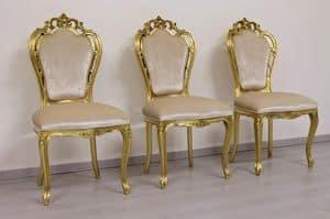 Black gold, Barock Stuhl mit Armlehnen