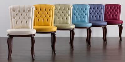 Stuhl mit Tufting-Rückenlehne, für die Gaststätten  IDFdesign