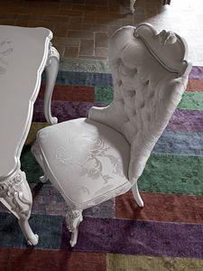 Carpi Stuhl, Stuhl im klassischen Stil mit Capitonné-Polsterung