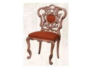 Chair art. Sari, Holzstuhl mit gepolstertem Sitz, Art-Deco-Stil