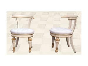 Chair art. Soft Dinner, Gesteppt Stuhl für Esszimmer, Direttorio Stil
