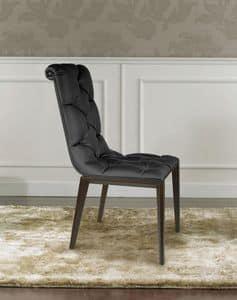 Epoque, Klassiker der Moderne Stuhl aus Holz, getuftet