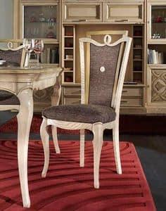 F 601, Gepolsterter Stuhl aus gebürsteter Esche, hohe Qualität