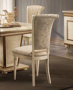 Fantasia Stuhl, Luxuriöser Esszimmerstuhl im neoklassischen Stil