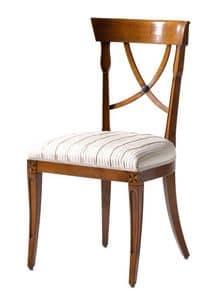 Fontainebleau VS.1237, Chair in Kirschbaum mit gepolstertem Sitz, ideal für Wohnräume im klassischen Luxus-Stil